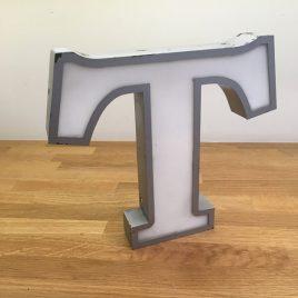 "1960s Shop sign letter ""T"""
