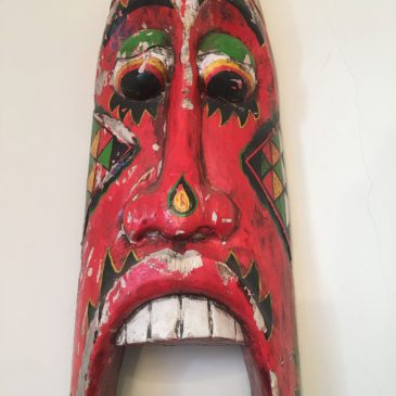 Red Fairground Decorative Mask