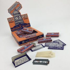 1930'S SHOP COUNTER DISPLAY UNIT FOR HOWARD'S RAZOR BLADES