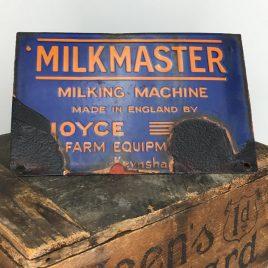 Milkmaster of Keynsham enamel sign