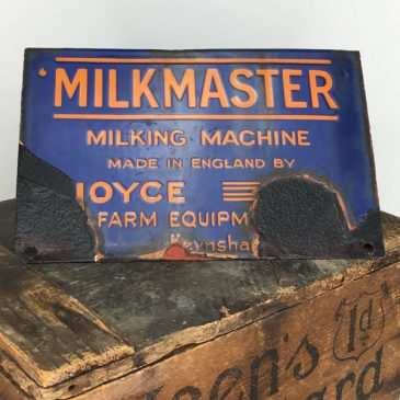Milkmaster of Keynsham enamel sign