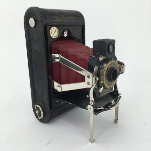 Kodak red bellows No1 Folding Pocket Autographic camera
