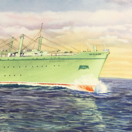 Cunard Line RMS Carmania / Franconia poster