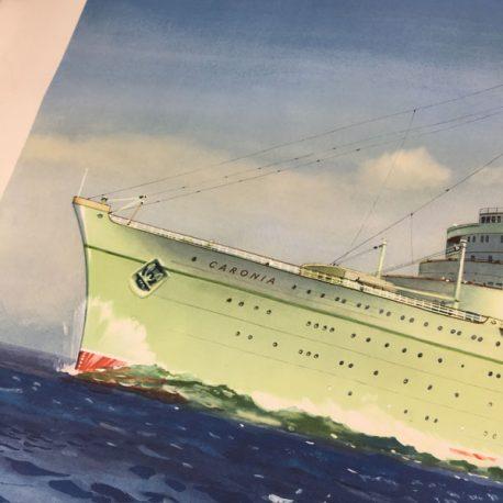 Vintage Cunard RMS Caronia poster