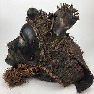 Bakongo tribal nail fetish head dress from the DRC - Congo