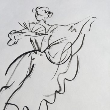Original Charlotte Fawley Ballet drawings Deborah Bull Manon ROH 1998