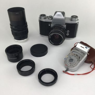 Praktica IVF with extension tubes, light meter and lenses