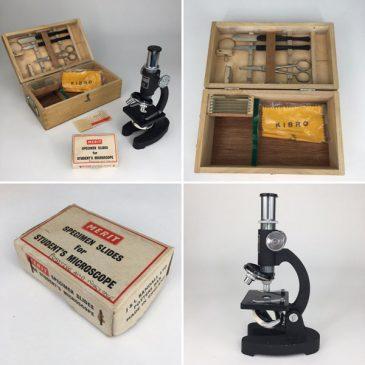 vintage student microscope