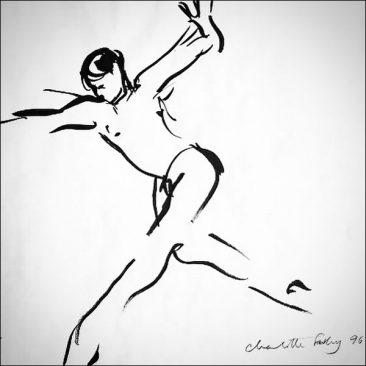 original hand drawn ballet dancer by Charlotte Fawley - The Royal Ballet - ROH