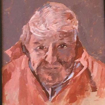 Oil on board portrait