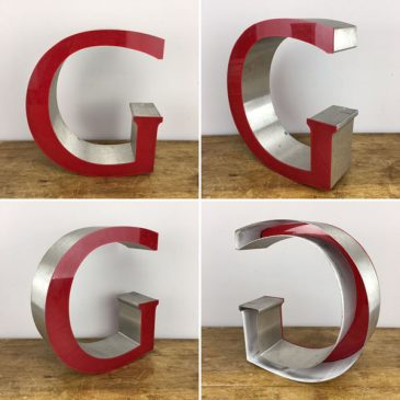 Salvaged Shop sign Letter G