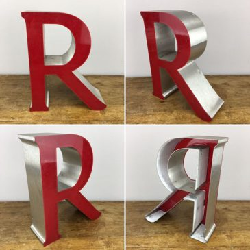 Salvaged Shop sign Letter R