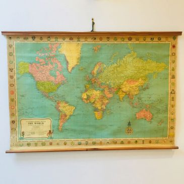 Vintage 1967 Stanfords School World Map